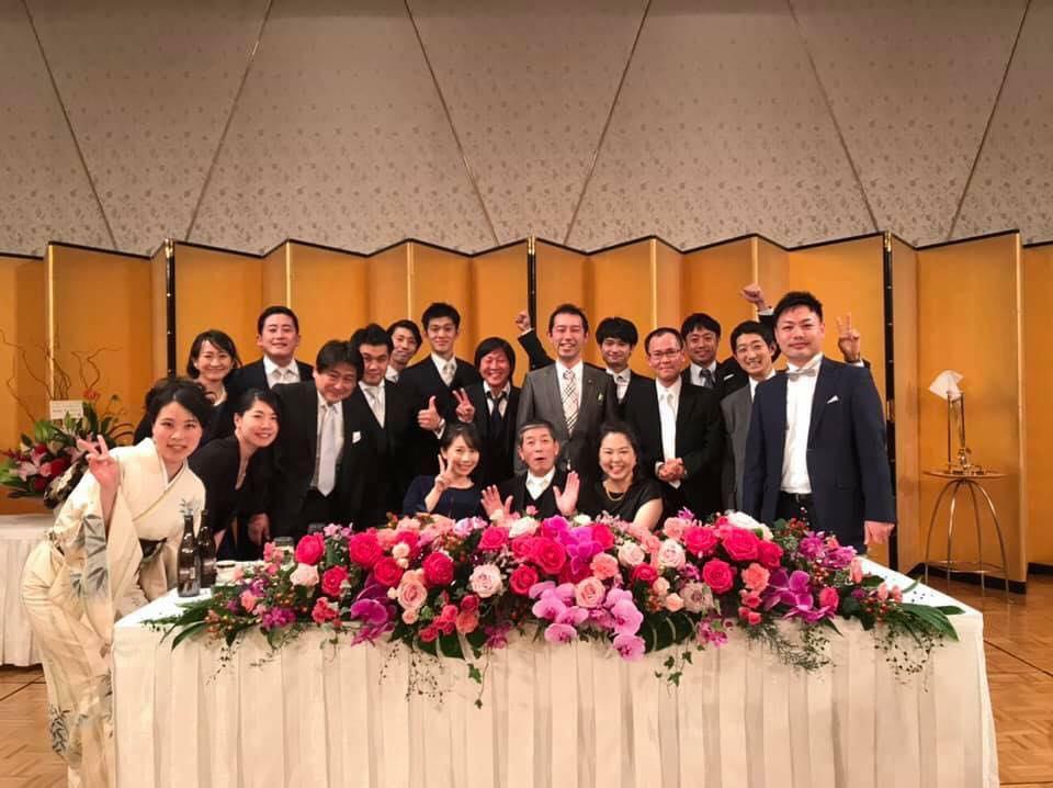 京都党代表の村山祥栄議員の結婚披露宴